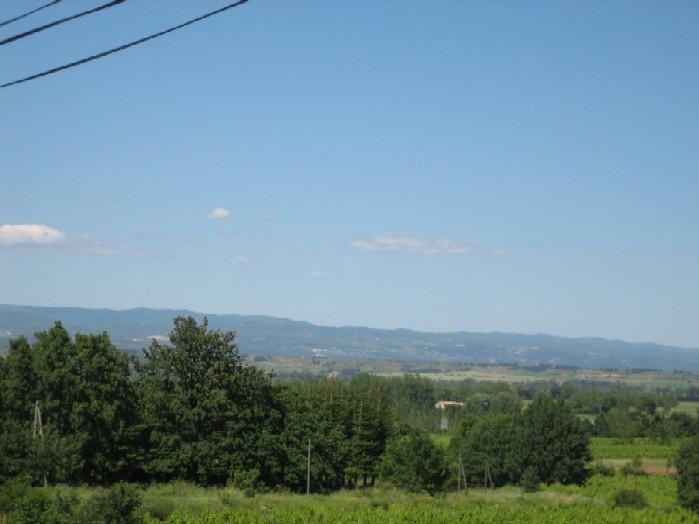 uitzicht naar stuurboord, uitlopers van het Montagne Noir