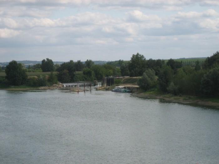 de sluis van de Baise naar de Garonne, alles lijkt normaal