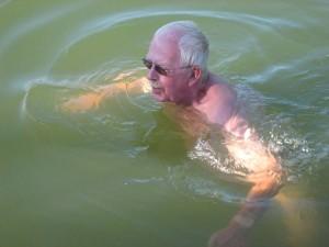 eigenlijk zwemmen schippers nooit