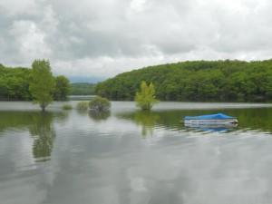 Het meer van waaruit dit kanaal gevoed wordt: water genoeg!