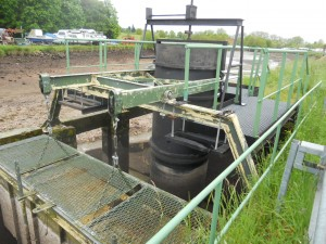 Automatisch werkend water-inlaat systeem in het kanaal