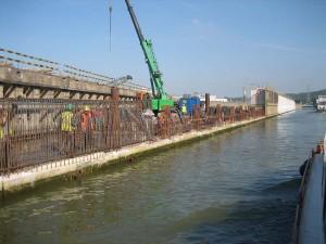nieuwbouw van de sluis bij Luik
