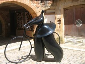 Sanne maakt een fietstochtje naar Auvillar