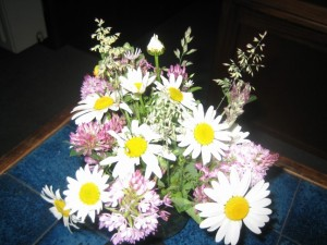 ook bij pech, Sanne zorgt altijd voor een fleurig tintje