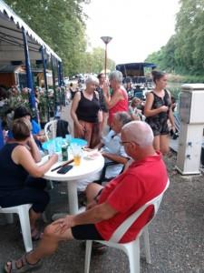 Muziekavond in haven van Meilhan