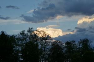 schitterende wolkenformatie