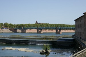 de stuw in de Garonne in Toulouse